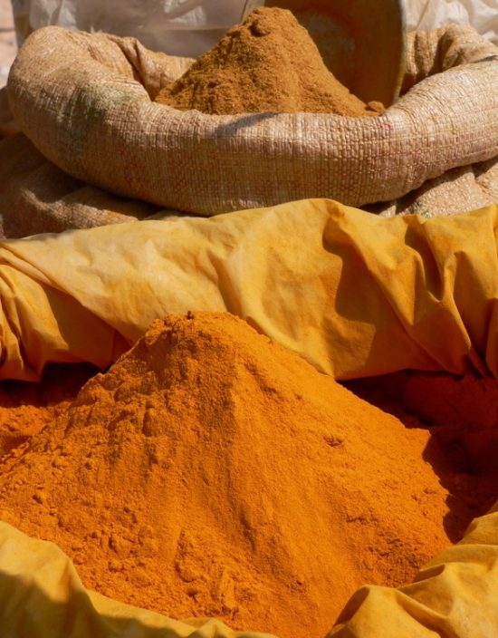 Bags of spices to souks of Marrakech.
