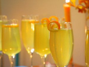 Orange Cardamom Bellini by Dave Lieberman. (All about Cardamon by Faim d'épices - Marrakech)